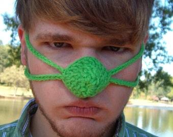 Green Nose Warmer - St. Patrick's Day - Christmas - Tween Teen Adult Unisex -Nose Cozy Mitten - Vegan - Outdoor Sports- Hunting