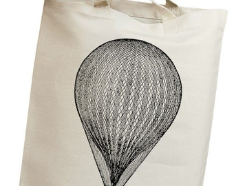 Hot Air Balloon 03 Vintage Eco Friendly Canvas Tote Bag (iss006)