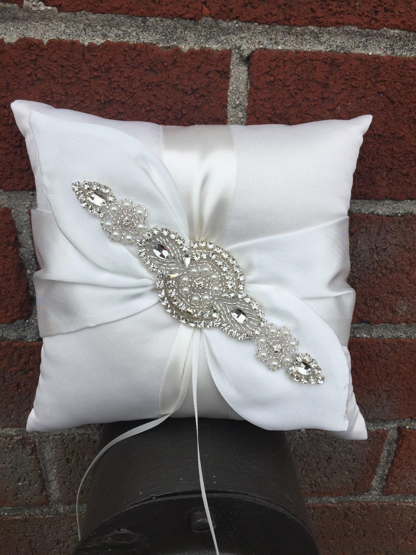 Flower girl basket ring bearer pillow set ivory or white fallen star couture inc izmirmasajfo
