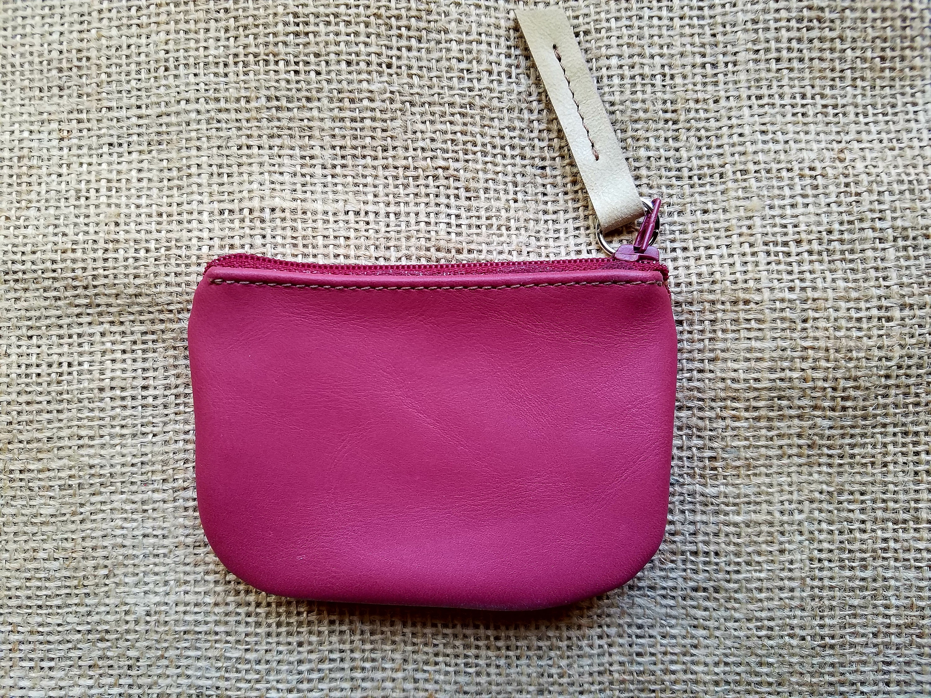 Handmade Leather Pink Pouch / Coin Purse / Leather Pink Wallet ...