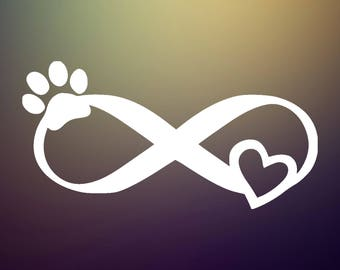 Infinity Animal Love Decal