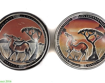 2 Stone Bowls Rhinos Kisii Kenya Africa 106763