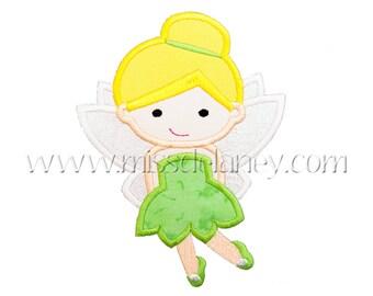 Green Tinker Fairy Applique Design