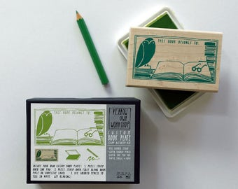 """ON SALE! """"This Book Belongs To"""" Stamp Activity Kit"""