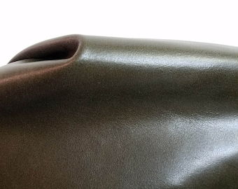 Italian Green Monaco 17-21 sq.ft. Nappa Cowhide Genuine upholstery craft handbag cow hide 2.0-2.5 oz NAT Leathers (28 inches x 50 inches)