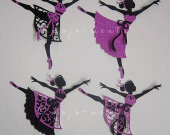 Ballerina Die Cuts - Pack of 4 - Assembled and Ready To add Straight On To Your Projects