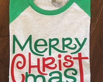 Christmas shirt, Holiday Shirt for Women, Women's Christmas Shirt, Christmas Raglan, Christmas tShirt, Womens Christmas shirt,