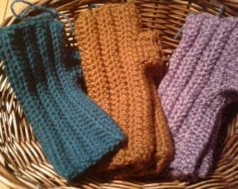Crocheted Fingerless Gloves Many Colors to Choose