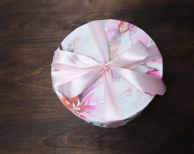 Roses flower box floral mothers day gift pastel pink green artificial flowers ready to ship home decor gift packed for her