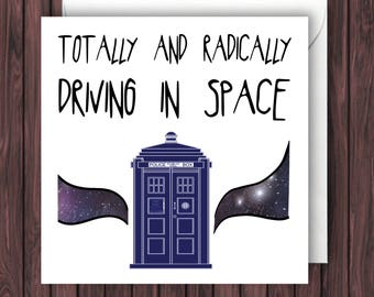 Tardis - Doctor Who Birthday Card - Funny Greetings Card - Geek Blank Card