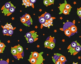 Timeless Treasures - Halloween Owls