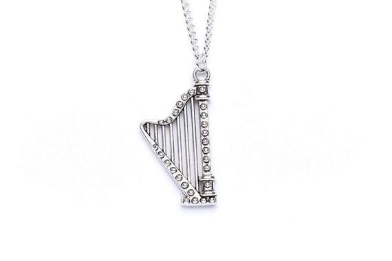harpe collier harpe de bijoux id e de cadeau de harpe. Black Bedroom Furniture Sets. Home Design Ideas
