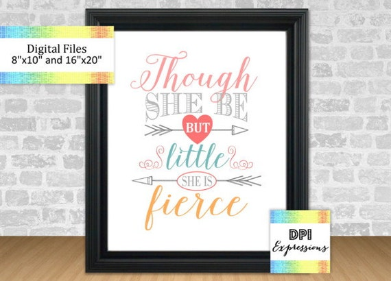Shakespeare Quotes She May Be Small: Though She Be But Little She Is Fierce Shakespeare Quote