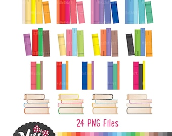 Book / Library Clipart - Instant Download