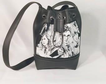 Mini Harry Potter bucket bag, Bucket Bag, Beach Bag, Boho Bag, Resort Tote, Hobo Tote, Casual Bag, Purse
