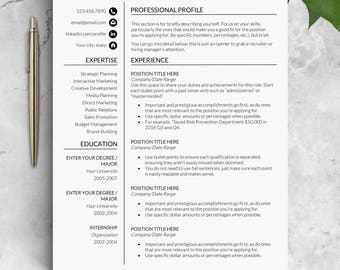 Feminine resume template Instant download Cv resume template cv Word resume template Marketing resume with reference page cover letter CV JW