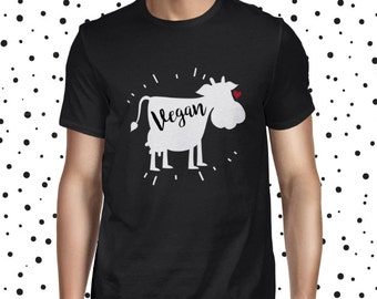 Animal T-shirt Vegan Man's T-shirt Cute Vegan Shirt Plant-based Tee Cute Plant Tee Plant Based Shirt Vegan Shirt Vegetarian Tee Cute Vegan T
