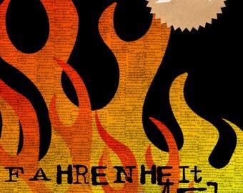 Fahrenheit 451 Minimalist Book Art Printable 8x10