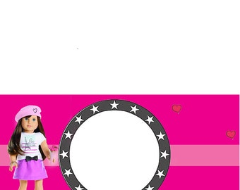 American Girl Food Tent or Name Tags
