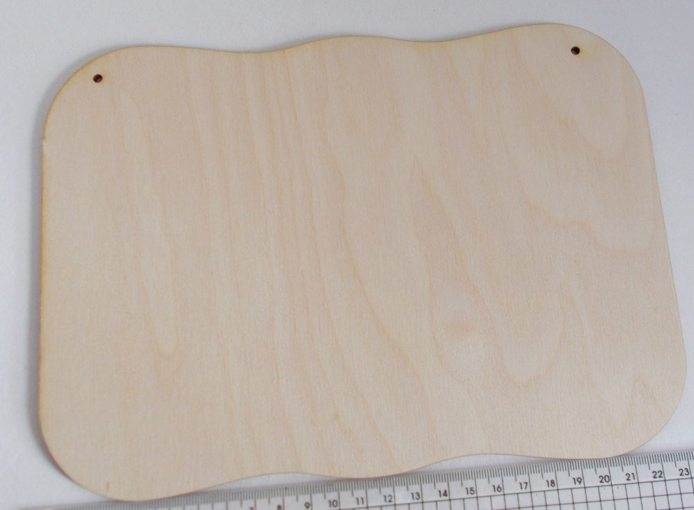 Wave plate for door sign with 2 holes 240 mm, base plate, blank ...