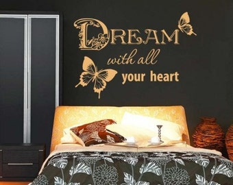 Dream wall decal, sticker, mural, vinyl wall art