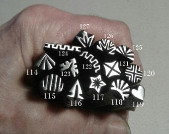 11, Handmade Metal Stamps, jewelry making tools, metal stamps, leather stamp, native stamp metal punch, original design, tribal stamp