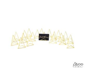 MOD Place Card Holder - 4 Color Options - Modlode -  Wedding Name Card Holder - Geometric Special Event Decor, Metallic Placecard Holder