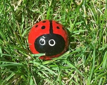 Awesome Ladybug,Golfball,Handpainted Golfball,Ladybug Garden,Ladybugs,Golfballs,Yard  Art,Garden Decor,Garden,Ladybug Art,Ladybug Decor,Lovebug