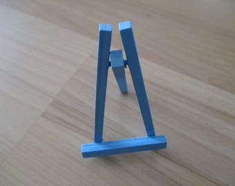 Easel display stand, blue turquoise color