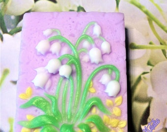 Lily of the Valley Soap-May-Lily Soap-Flower Soap-Women's Soap-Decorative Soap