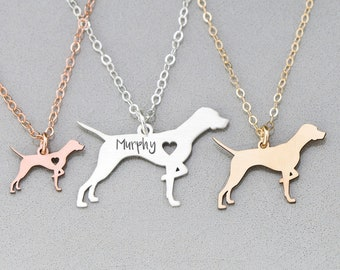German Pointer Dog • Shorthaired Pointer • Dog Breed • Best Friend Gift Hunting Dog Necklace • Mans Best Friend Unique Pet Charm