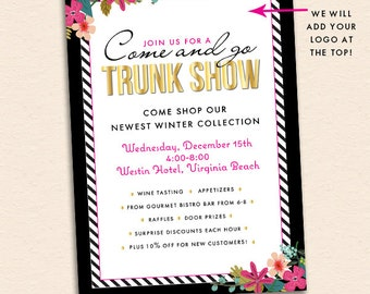 Open House Business Party Invitation Trunk Show Shopping