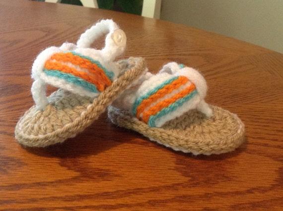 Häkeln Baby Flip Flop Sandalen Türkis und