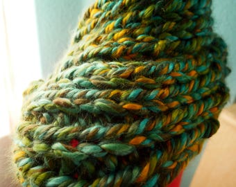 Hand-Knitted Soft Infinity Scarf- Absinthe