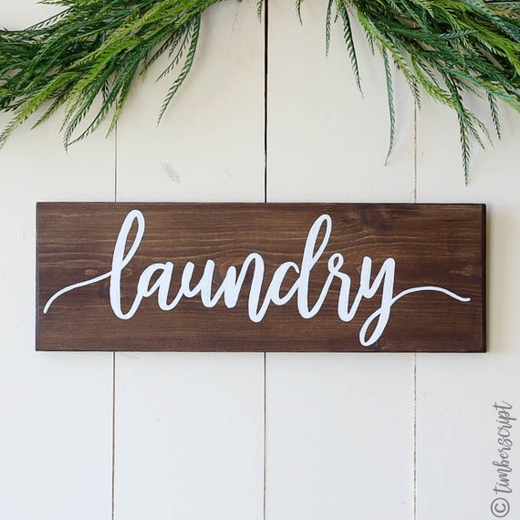 Laundry Room Signs Decor: Rustic Laundry Room Sign L Rustic Laundry Decor L Sign For