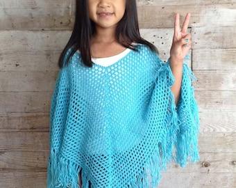 Ponchos for Kids Crochet Pattern PDF