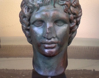 For Sale Alexander the Great Macedonian Bust- King Of Vergina - Bronze Effect