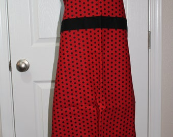 Adult Red and Black Dots Apron