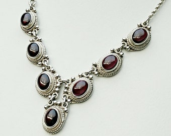 Sterling silver necklace,gemstone necklace, Silver necklace, Collar necklace,handmade necklace,Gemstones, chain, necklace, sterling silver,