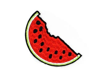Fusible badge embroidered watermelon
