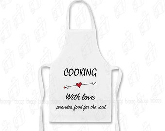 Custom Apron Personalized Waiter kitchen chef cook YOUR TEXT logo Family Name