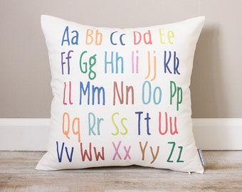 Colorful Alphabet Pillow | Personalized Baby Pillow | Baby Nursery Pillow | Baby Pillow | Nursery Decor | Baby Gift | ABC Pillow