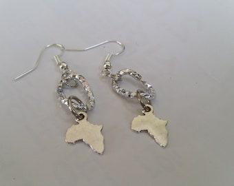 Silver  African  Earrings