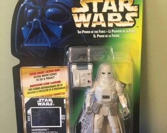 Vintage Star Wars Power of the Force Snowtrooper MINT Action Figure 1997