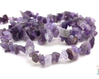 Amethyst: beads chips 5-9mm, 1 strand of 80cm (pg192)