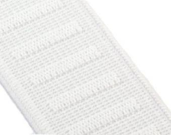 """1"""" Elastic - Woven Waistband Elastic - Woven Polyester Flat Non-Roll Elastic 1 inch wide White - 35 Continuous Yards In Stock"""