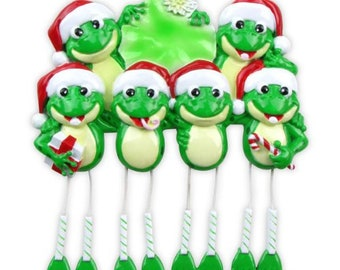 Personalized Frog Family of 6 Ornamen