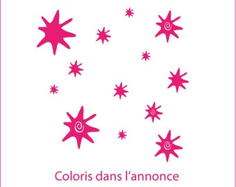 Designer stickers: original and unique stars for a child's room or decor living room, bathroom