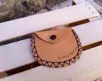Purse leather coin purse gift idea Gift
