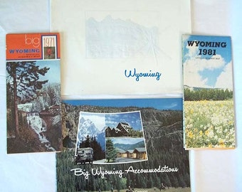 1971 & 1981 Wyoming Maps and Travel Guides - 4 Items